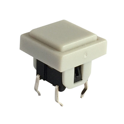6 pin DIP Illuminated Tact Push LED Switch With Square Tactile Cap
