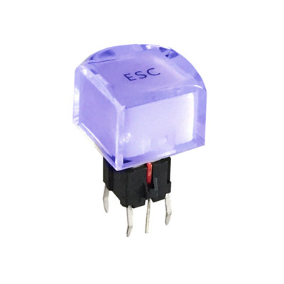 Illuminated Blue LED Tact Button Switches