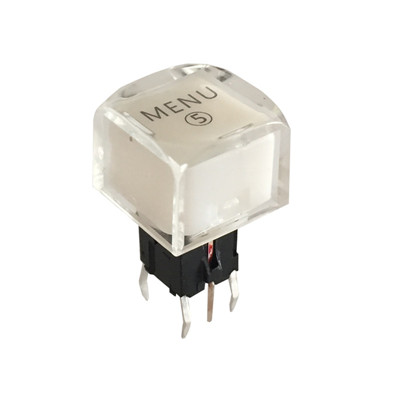 11x11mm Square Micro LED Push Button Switch With 6 Pin