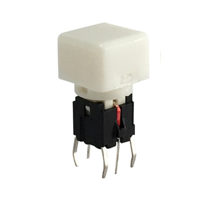 LED Illuminated Tact Switches With Transparent Cap