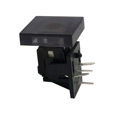 right angle illuminated switch with LED